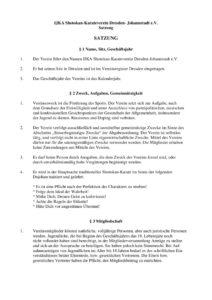 thumbnail of Satzung